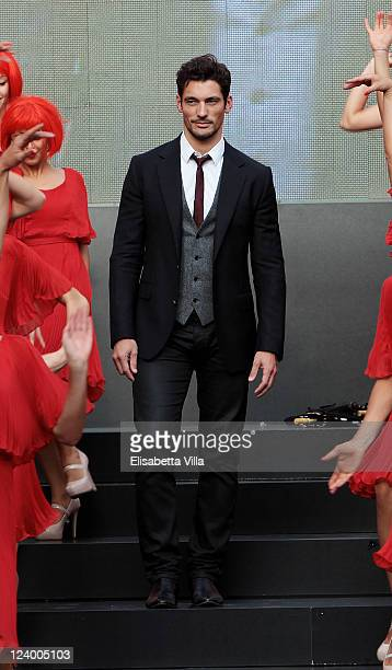 "Model David Gandy joins MARTINI to celebrate the global launch campaign ""LUCK IS AN ATTITUDE"" at Piazza Mignanelli on September 7, 2011 in Rome,..."
