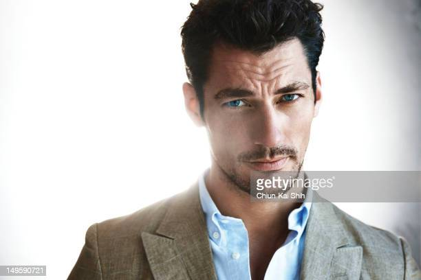 Model David Gandy poses for August Man on July 1 2012 in New York City COVER IMAGE