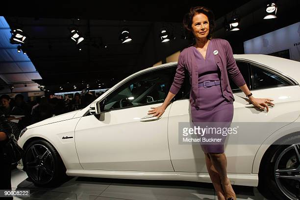 Model Dayle Haddon attends Fashion Week Spring 2010 presented by MercedesBenz at Bryant Park on September 11 2009 in New York City