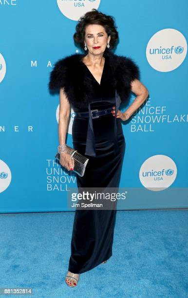 Model Dayle Haddon attends the 13th Annual UNICEF Snowflake Ball 2017 at The Atrium at 60 Wall Street on November 28 2017 in New York City