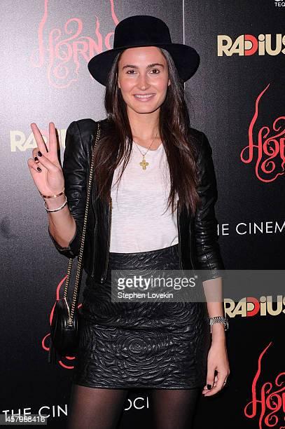 Model Deidre Nesteruk attends the RADiUS TWC and The Cinema Society New York Premiere of Horns at Landmark Sunshine Cinema on October 27 2014 in New...