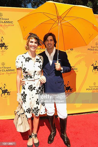 Model Delfina Blaquier and polo player Nacho Figueras arrive to the Veuve Clicquot Polo Classic Los Angeles at Will Rogers State Historic Park on...