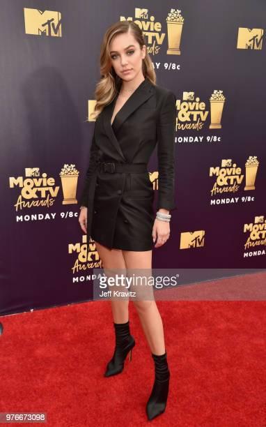 Model Delilah Belle Hamlin attends the 2018 MTV Movie And TV Awards at Barker Hangar on June 16 2018 in Santa Monica California