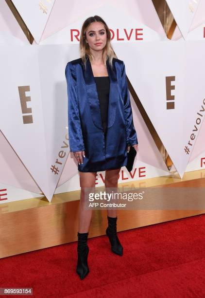 Model Delilah Hamlin attends the first annual #REVOLVEawards at the Dream Hotel in Hollywood on November 2 2017 / AFP PHOTO / CHRIS DELMAS