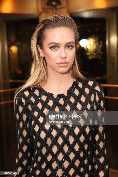 Model Delilah Hamlin attends Town Country Magazine's Modern Swans Celebrationon at The Carlyle September 10 2017 in New York City