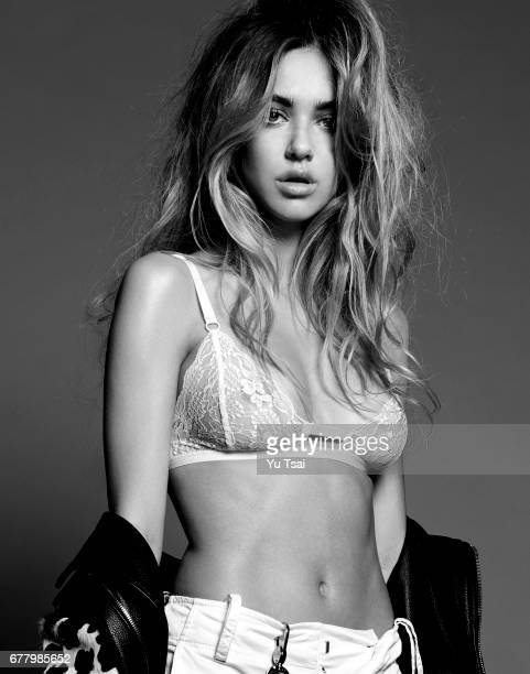 Model Delilah Hamlin is photographed for Self Assignment on April 5 2017 in Los Angeles California