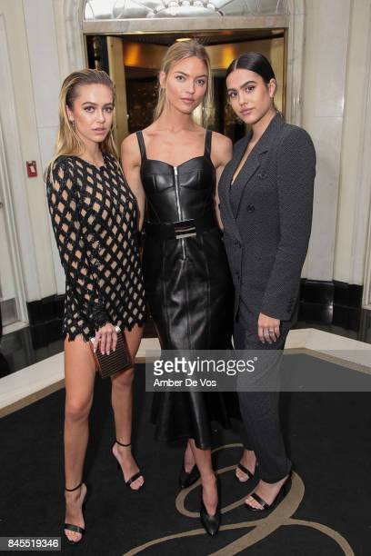 Model Delilah Hamlin Model Annabella Barber and Model Amelia Hamlin attends Town Country Magazine's Modern Swans Celebrationon at The Carlyle...