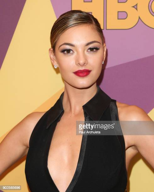 Model DemiLeigh NelPeters attends HBO's official Golden Globe Awards after party at The Circa 55 Restaurant on January 7 2018 in Los Angeles...