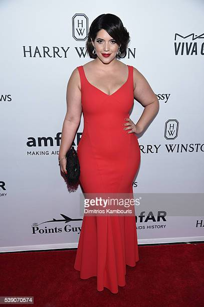 Model Denise Bidot attends the 7th Annual amfAR Inspiration Gala at Skylight at Moynihan Station on June 9 2016 in New York City