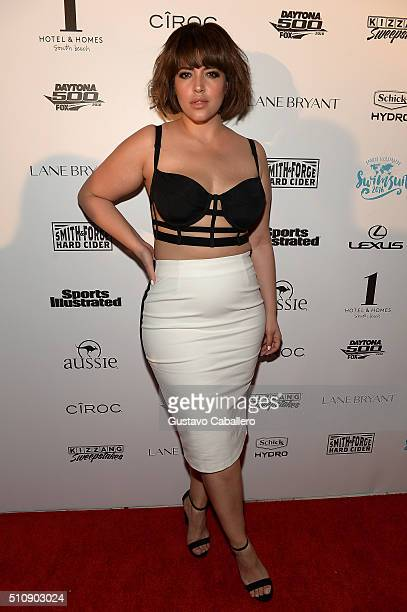 Model Denise Bidot attends the Sports Illustrated Swimsuit 2016 Swim BBQ VIP at 1 Hotel Homes South Beach on February 17 2016 in Miami Beach Florida