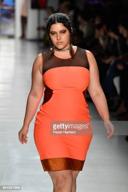 Model Denise Bidot walks the runway for Chromat during New York Fashion Week at Gallery 3 Skylight Clarkson Sq on September 8 2017 in New York City
