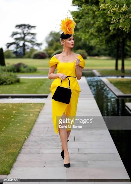 Model, designer Tatiana Korsakova attends Ladies Day at Ascot on June 21, 2018 in Ascot, England.
