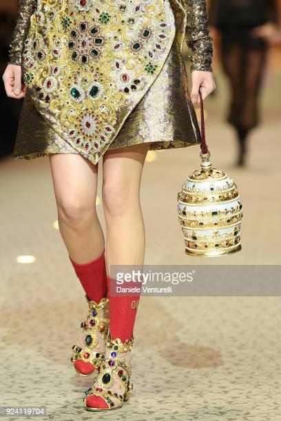 A model detail walks the runway at the Dolce Gabbana show during Milan  Fashion Week Fall 4e69a2b51c93