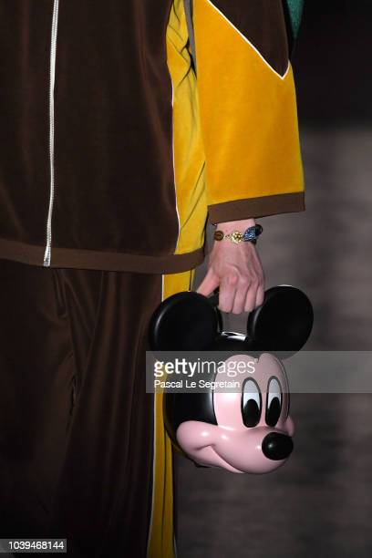 A model detail walks the runway at the Gucci show during Paris Fashion Week Spring/Summer 2019 on September 24 2018 in Paris France