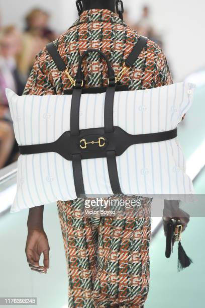 A model detail walks the runway at the Gucci Spring/Summer 2020 fashion show during Milan Fashion Week on September 22 2019 in Milan Italy