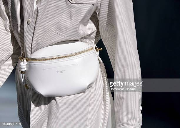A model detail walks the runway during the Givenchy show as part of the Paris Fashion Week Womenswear Spring/Summer 2019 on September 30 2018 in...