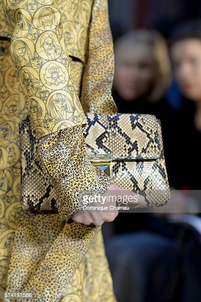 A model detail walks the runway during the Sonia Rykiel show as part of the Paris Fashion Week Womenswear Fall/Winter 2016/2017 on March 7 2016 in...