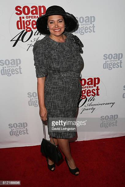 Model Devin DeVasquez arrives at the 40th Anniversary of the Soap Opera Digest at The Argyle on February 24 2016 in Hollywood California