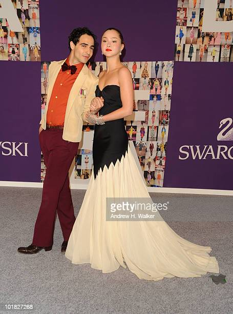 Model Devon Aoki and designer Zac Posen attend the 2010 CFDA Fashion Awards at Alice Tully Hall at Lincoln Center on June 7 2010 in New York City