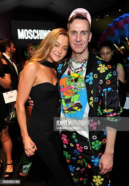 Model Devon Aoki and Moschino Creative Director Jeremy Scott attend the Moschino Spring/Summer17 Menswear and Women's Resort Collection after party...