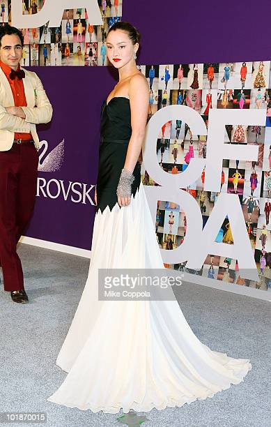 Model Devon Aoki attends the 2010 CFDA Fashion Awards at Alice Tully Hall Lincoln Center on June 7 2010 in New York City