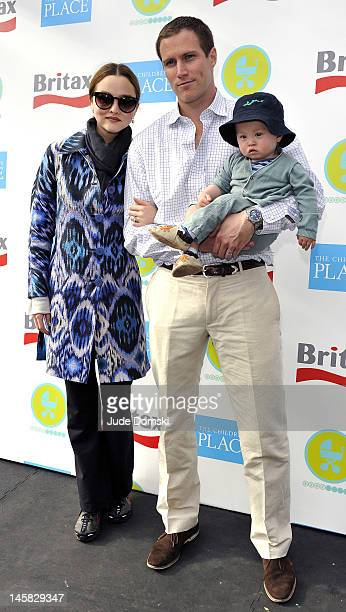 Model Devon Aoki James Bailey and their son Hunter attend the 2012 Baby Buggy Bedtime Bash at Victorian Gardens at Wollman Rink Central Park on June...