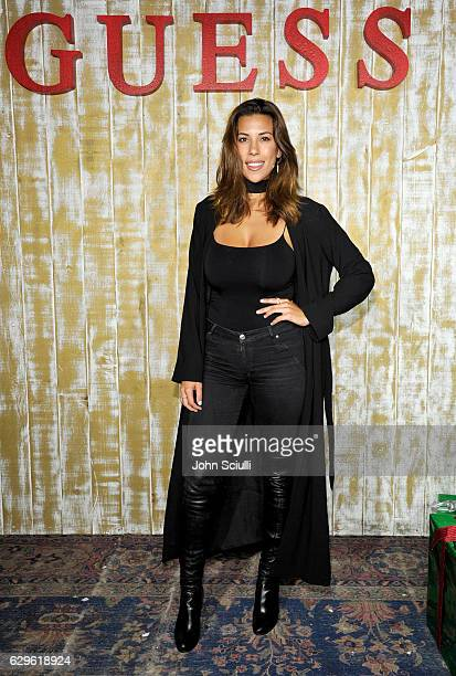Model Devon Brugman attends GUESS Glitz and Glam Holiday event at The Carondelet House on December 13 2016 in Los Angeles California