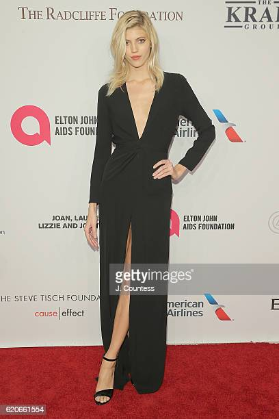 Model Devon Windsor attends 15th Annual Elton John AIDS Foundation An Enduring Vision Benefit at Cipriani Wall Street on November 2 2016 in New York...