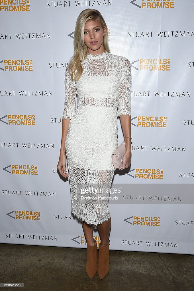 Model Devon Windsor attends as Stuart Weitzman launches its partnership with Pencils Of Promise at Sadelle's on April 11, 2016 in New York City.