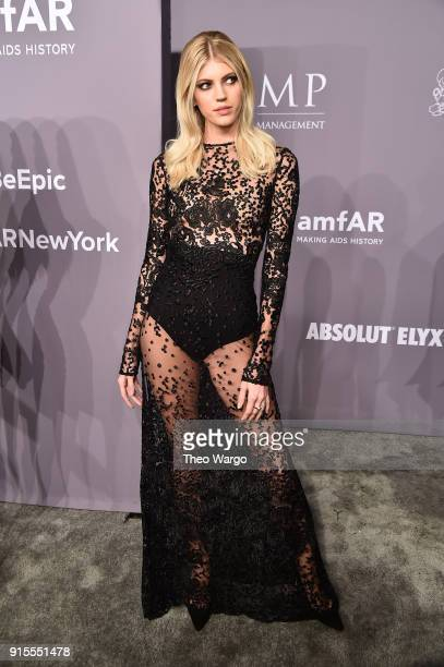 Model Devon Windsor attends the 2018 amfAR Gala New York at Cipriani Wall Street on February 7 2018 in New York City