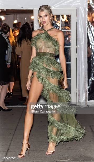 Model Devon Windsor is seen arriving to the 2020 amfAR New York Gala at Cipriani Wall Street on February 05 2020 in New York City