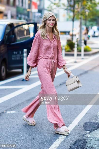 Model Devon Windsor is seen in Midtown on August 22 2017 in New York City