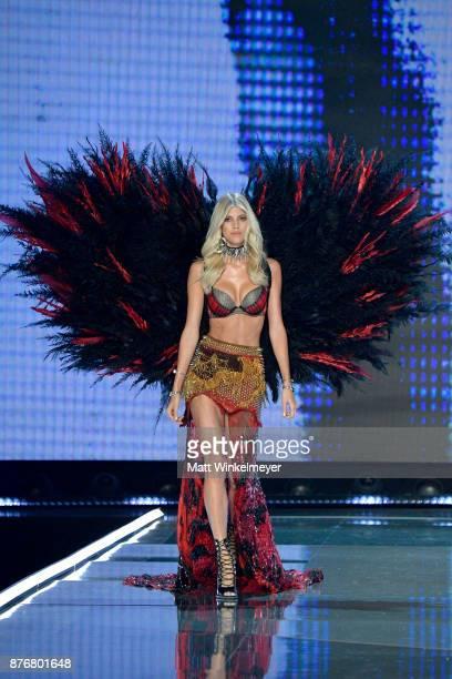 Model Devon Windsor walks the runway during the 2017 Victoria's Secret Fashion Show In Shanghai at MercedesBenz Arena on November 20 2017 in Shanghai...