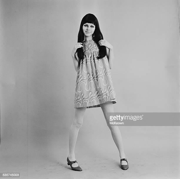 Model Dian Poore showing a cotton mini dress by Biba 26th April 1967