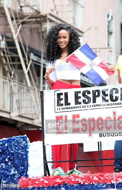 Model Diana Escotto aka Mizz DR attends the 2011 Dominican Day Parade on August 14 2011 in New York City
