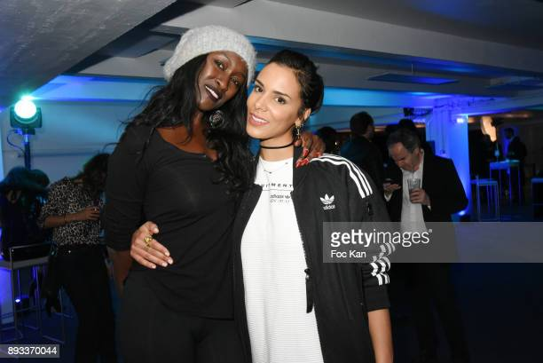 Model Diariata Niang and singer Shy'm attend the Lamborghini Party at Garage Bellini on December 14 2017 in Puteaux France