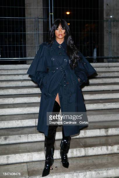 Model Didi Stone attends the Burberry Closing Party For Anne Imhof's Exhibition 'Natures Mortes' at Palais De Tokyo on October 18, 2021 in Paris,...