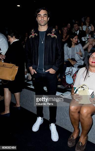 Model Diego Osorio is seen attending MercedesBenz Fashion Week Madrid Spring/Summer 2017 at Ifema on September 16 2016 in Madrid Spain