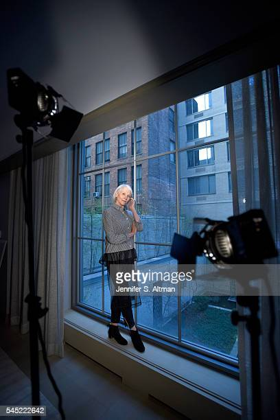Model dietician and mother of Elon Musk Maye Musk is photographed for the New York Times on April 11 2016 in New York City