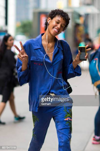 Model Dilone attends call backs for the 2017 Victoria's Secret Fashion Show in Midtown on August 22 2017 in New York City