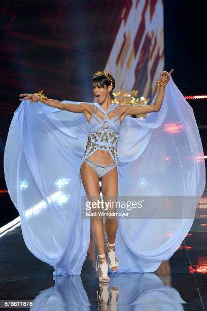 Model Dilone walks the runway during the 2017 Victoria's Secret Fashion Show In Shanghai at MercedesBenz Arena on November 20 2017 in Shanghai China