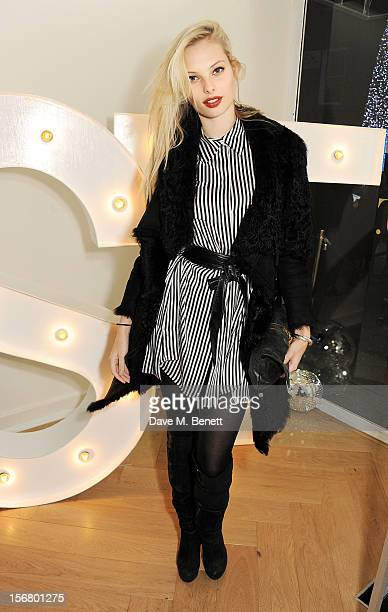 Model Dioni Tabbers attends the launch of the SuperTrash London flagship store on November 21 2012 in London England