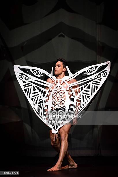 Model display Tangaroa by Kelsey Roderick Rhys Richards in the Aotearoa Section during the World of WearableArt Awards Charity Show 2016 on September...