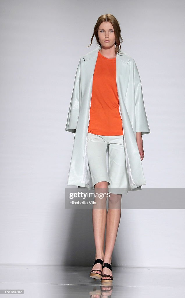 A model displays a creation by Arthur Arbesser during 'Who Is On Next?' Altaroma Vogue Italia fashion show as part of AltaRoma AltaModa Fashion Week at Santo Spirito In Sassia on July 8, 2013 in Rome, Italy.