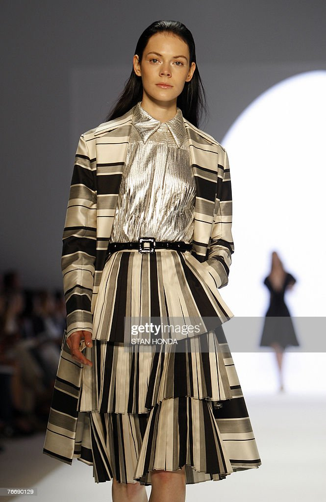 04ae6a79678 A model displays a creation by US fashion designer Anne Klein during ...  anne