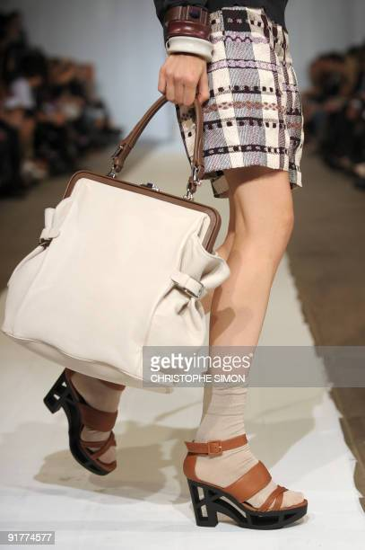Model displays a creation of Marni Spring/Summer 2010 ready-to-wear collection on September 27, 2009 during the Women's fashion week in Milan. AFP...