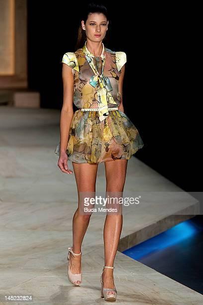34416ab8b A model displays a design by Maria Bonita Extra during the Fashion Rio  Summer 2012/
