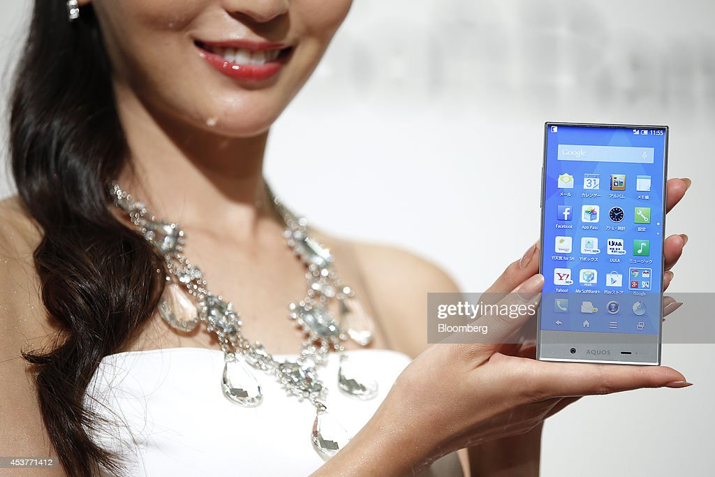 SoftBank Corp. Unveils New Smartphones Developed With Sprint : News Photo