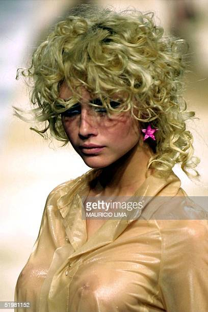 A model displays fashions for the Zoomp label at Sao Paulo Fashion Week in Brazil Organizers hope the week will place Sao Paulo on par with New York...
