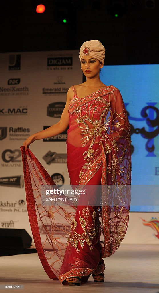 A Model Displays Hare A Creation Of Indian Designer Rohit Verma News Photo Getty Images